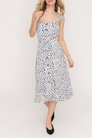 Lush Clothing  Speckled Midi Dress - Front cropped
