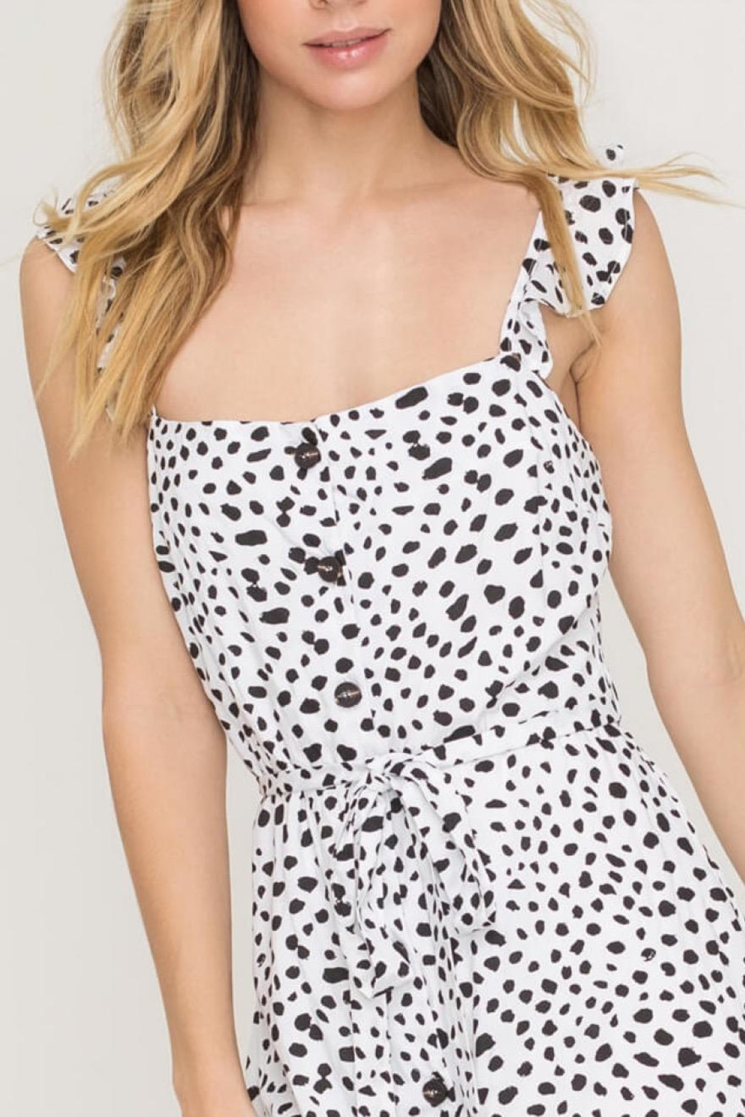 Lush Clothing  Speckled Midi Dress - Side Cropped Image