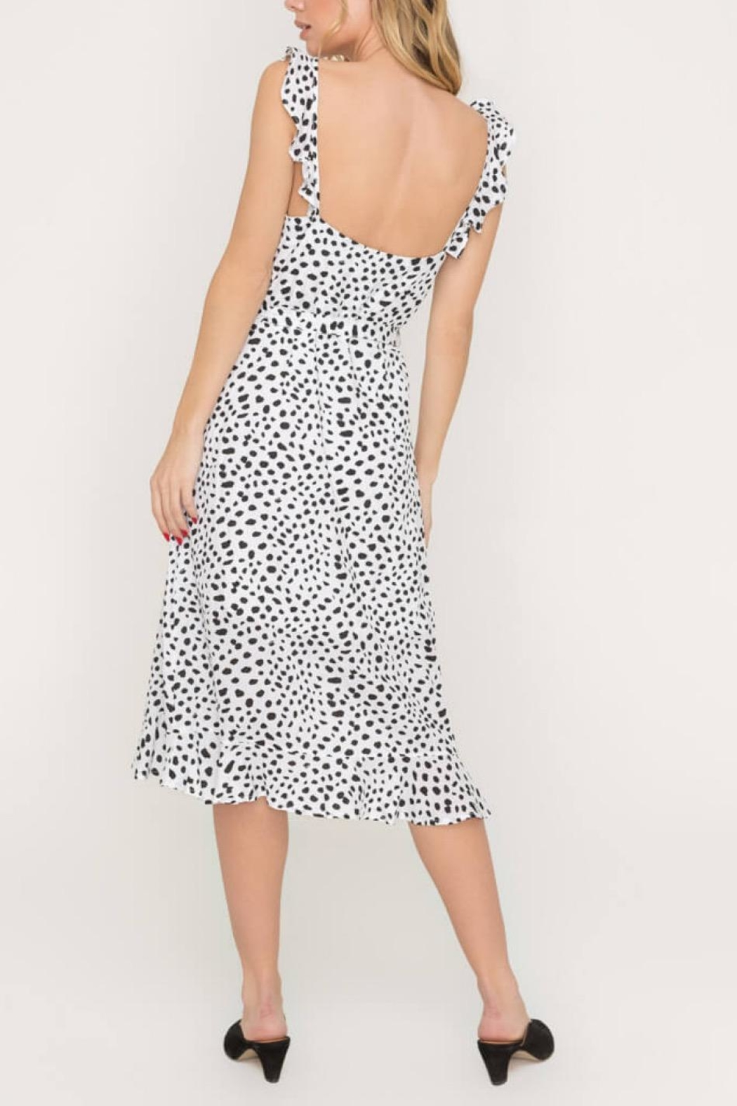 Lush Clothing  Speckled Midi Dress - Back Cropped Image