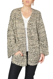 Moon River Speckled Open Cardigan - Product Mini Image