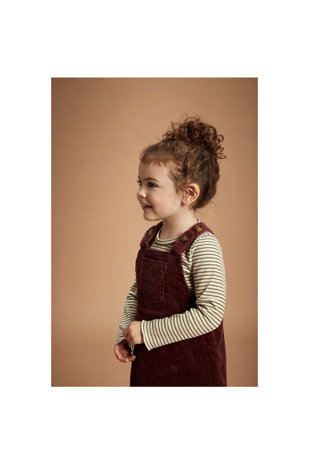 Minymo Spencer Corduroy Jumper - Crushed Berry - Front Full Image