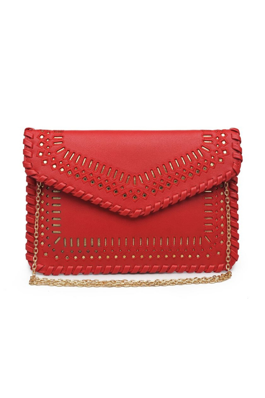 Urban Expressions Spencer Vegan Leather Clutch - Front Cropped Image