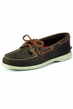 Shoptiques Product: Brown Leather Boat-Shoe