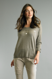 Tempo Paris  Spice Up Your Life V-Neck Top - Product Mini Image