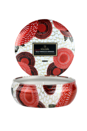Voluspa Spiced Goji Tarocco Orange 3 Wick Tin Candle - Product Mini Image