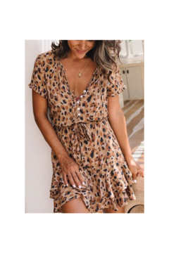 Esley  Spicy Leopard Print Detailed Dress - Product List Image