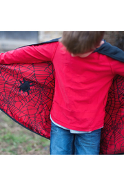 Great Pretenders  Spider Bat Reversible Cape & Mask - Front cropped