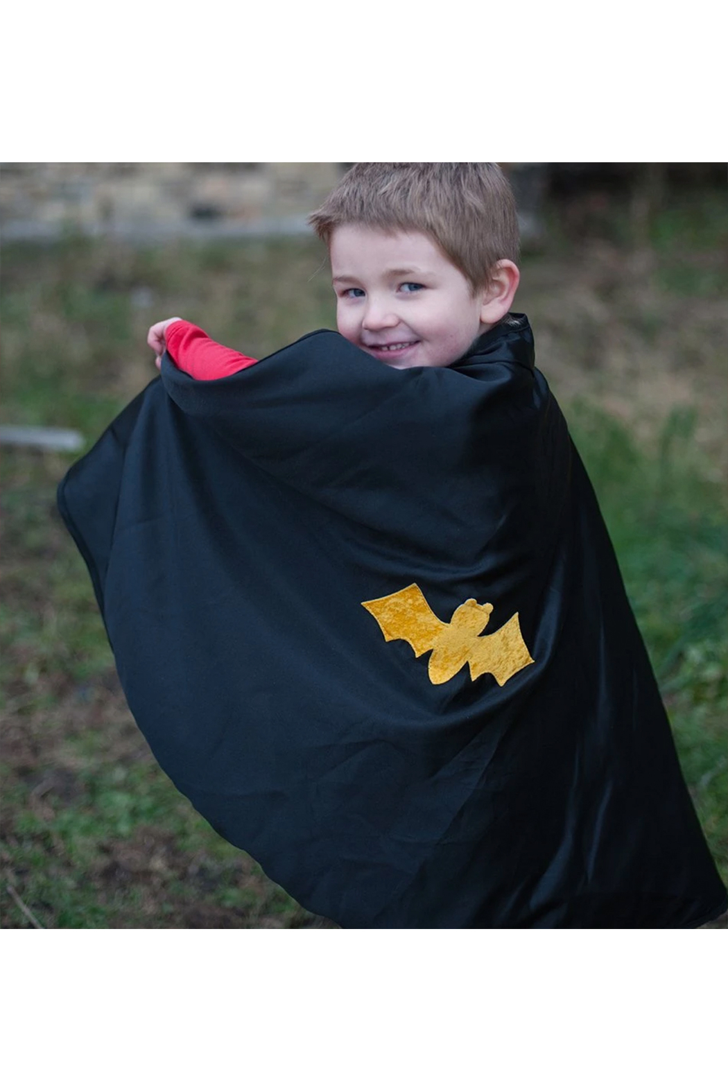 Great Pretenders  Spider Bat Reversible Cape & Mask - Side Cropped Image