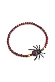 Malia Jewelry Spider Garnet Bracelet - Product Mini Image