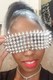 Tiny House of Fashion Spike Metal Glasses - Front cropped