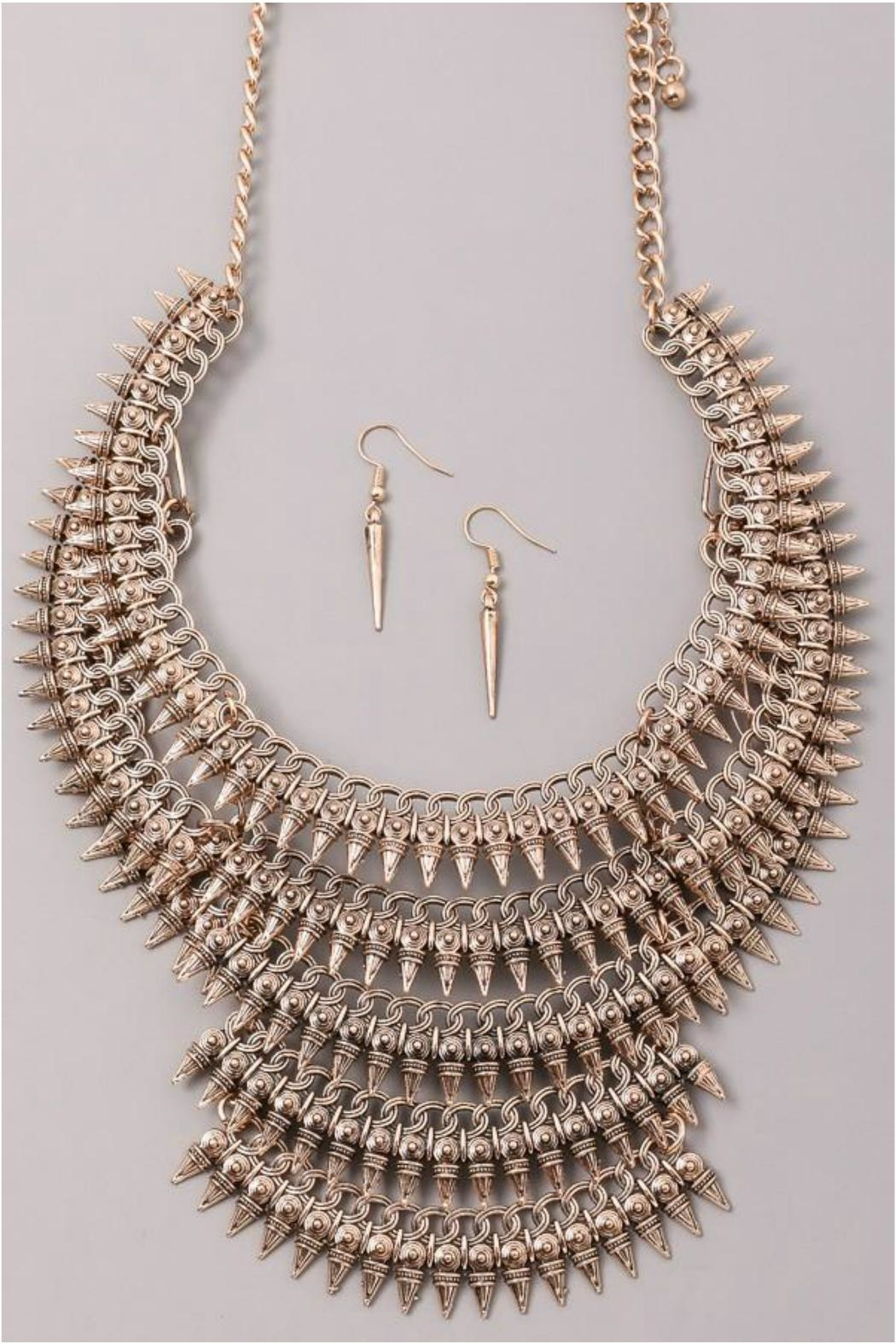 Minx Spike Statement Necklace - Front Full Image
