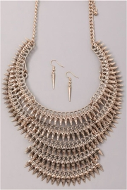 Minx Spike Statement Necklace - Front full body