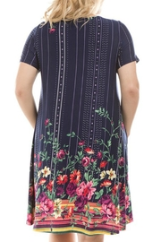 Spin USA Floral Border-Print Dress - Front full body