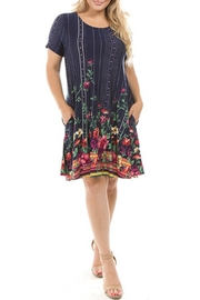 Spin USA Floral Border-Print Dress - Front cropped
