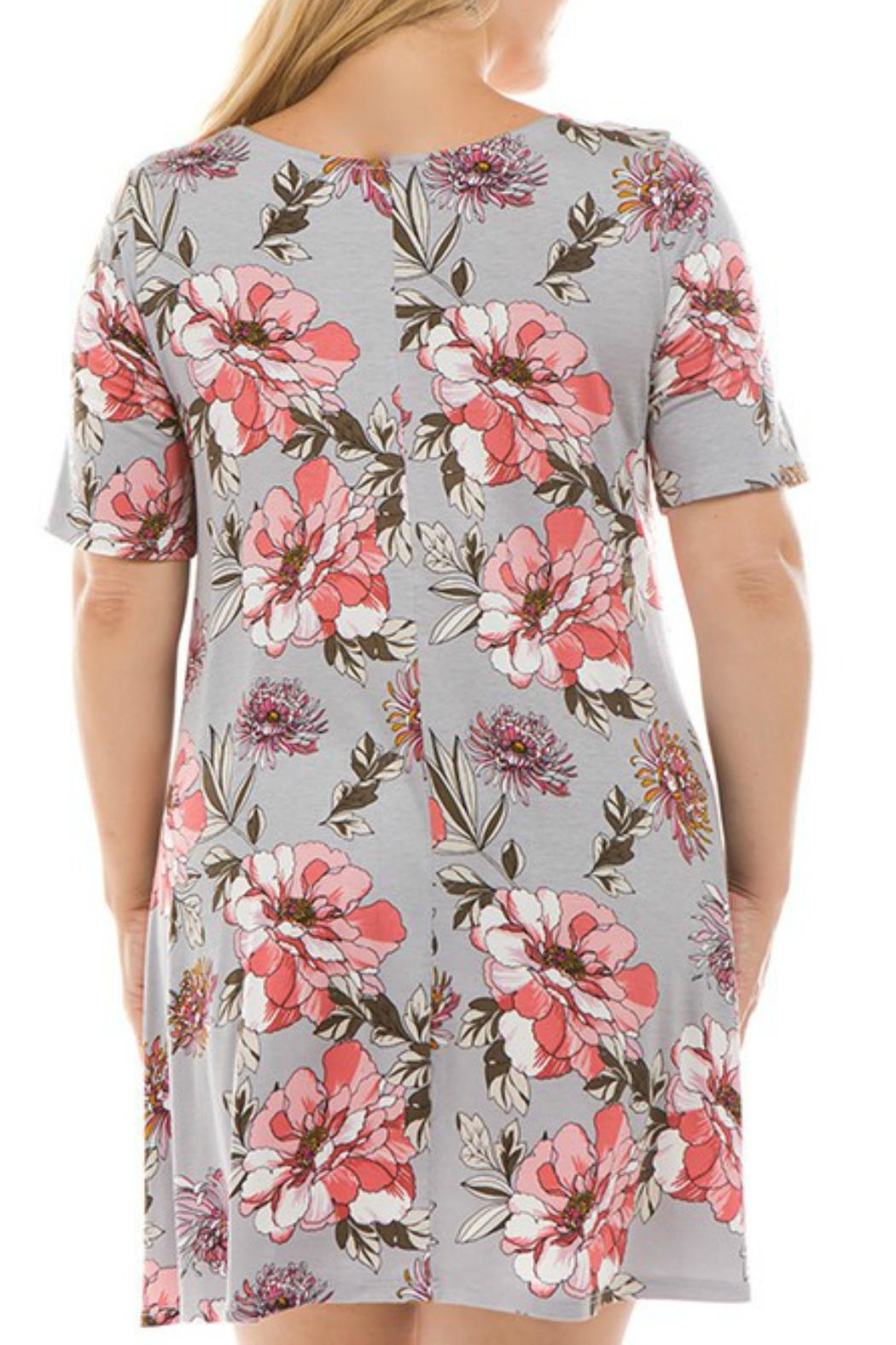 Spin USA Floral Criss-Cross Dress - Front Full Image