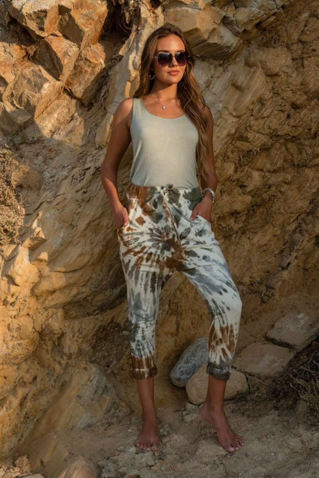Venti6 Spiral Tie Dye Pant - Front Full Image