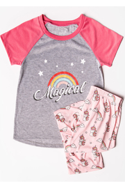 PJ Salvage Spirit Unicorn PJ Set - Product Mini Image