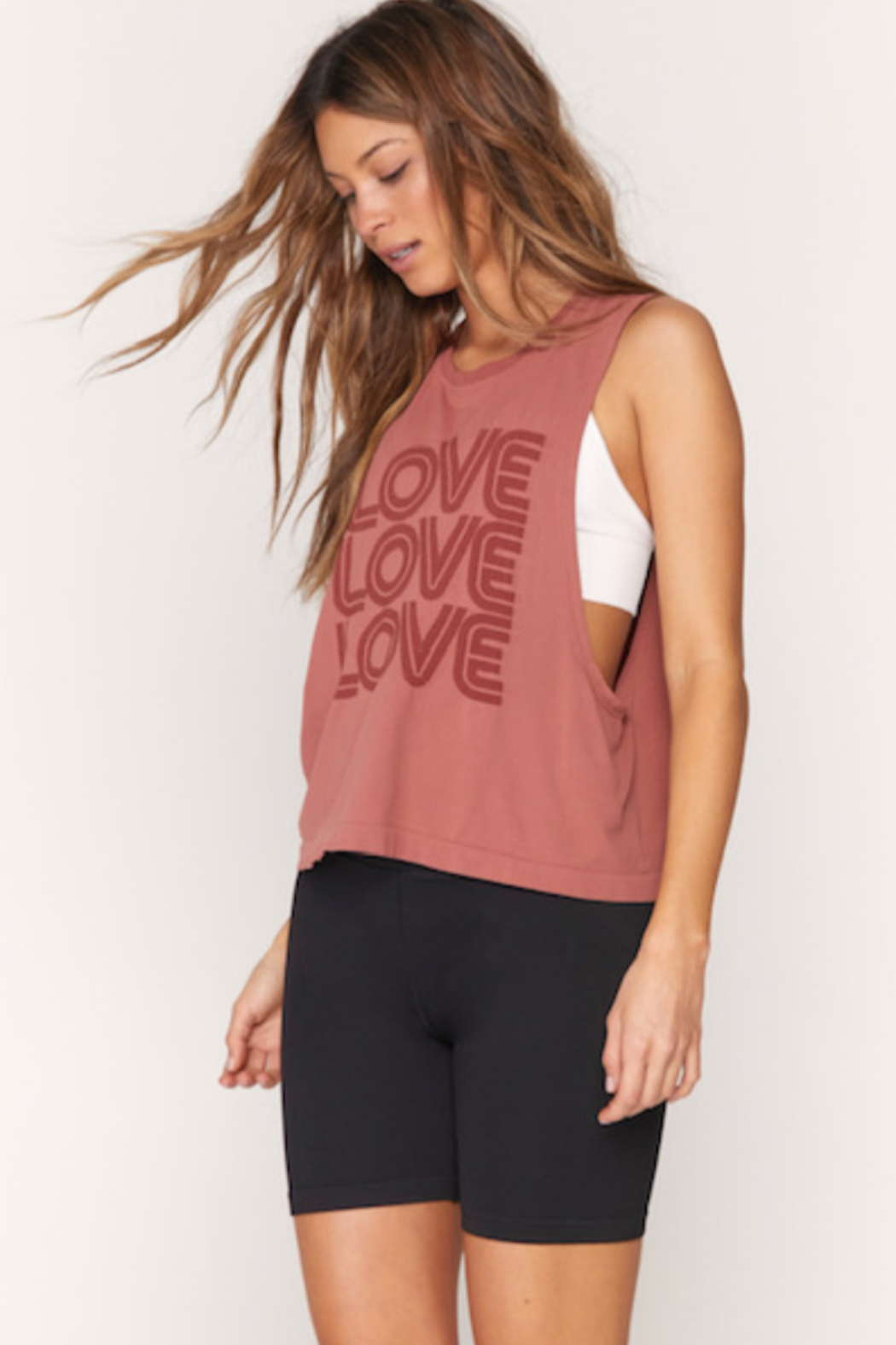 Spiritual Gangster  Active Love Flow Tank - Side Cropped Image
