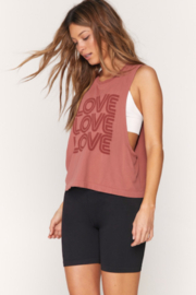 Spiritual Gangster  Active Love Flow Tank - Side cropped