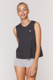 Spiritual Gangster  Dark Heather Grey happy Tank - Product Mini Image