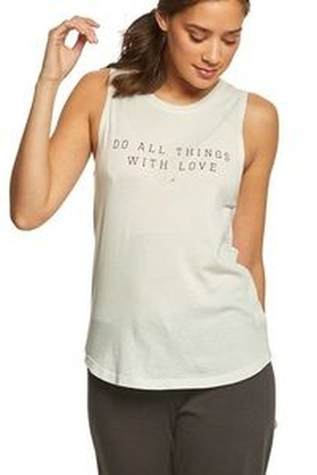 Spiritual Gangster  Do All Things With Love Tank - Front Full Image