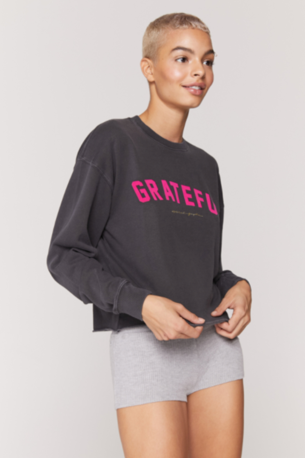 Spiritual Ganster Spiritual Gangster Graphic Pullover - Front Cropped Image