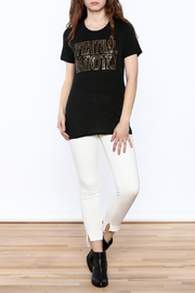 SPIRITUAL GANGSTER Black Graphic Tee - Front full body