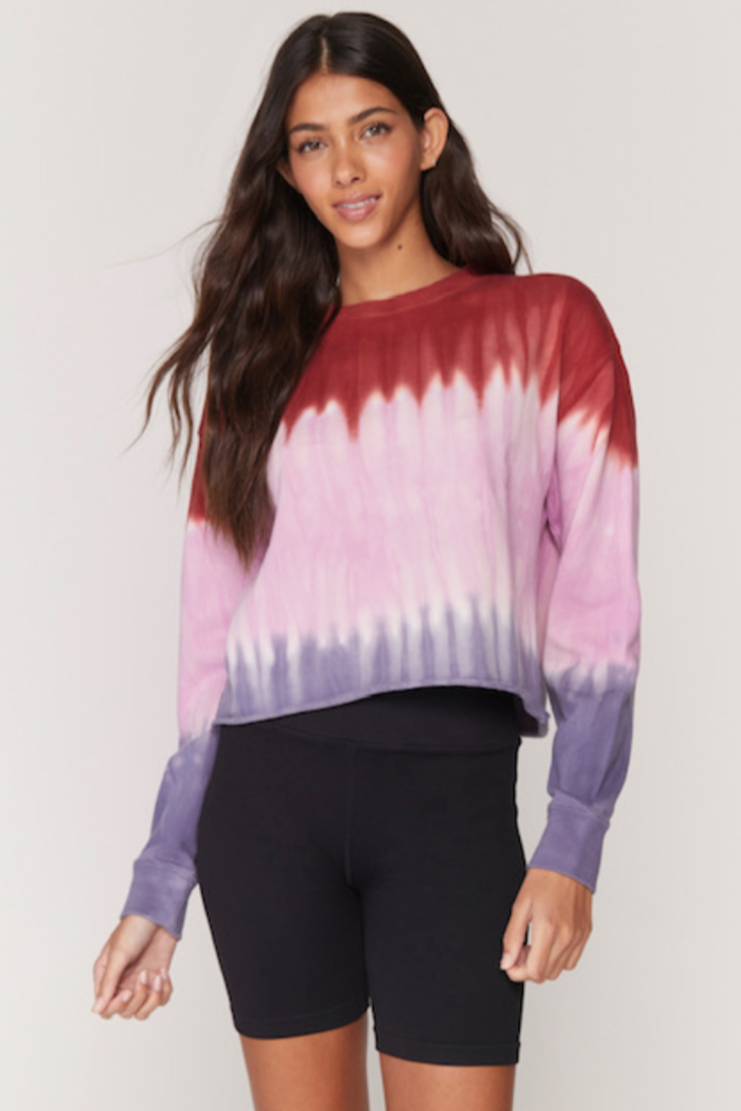 Spiritual Gangster  Mazy Tye Dye Pullover - Front Cropped Image
