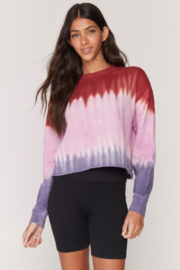 Spiritual Gangster  Mazy Tye Dye Pullover - Front cropped