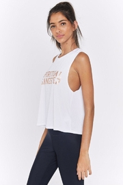 SPIRITUAL GANGSTER Active Crop Tank - Front full body