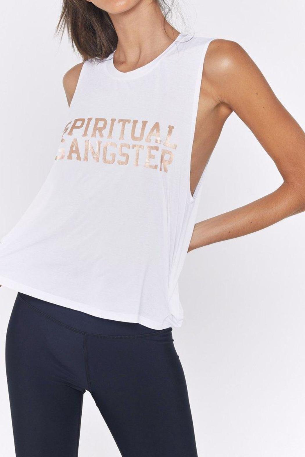 SPIRITUAL GANGSTER Active Crop Tank - Main Image