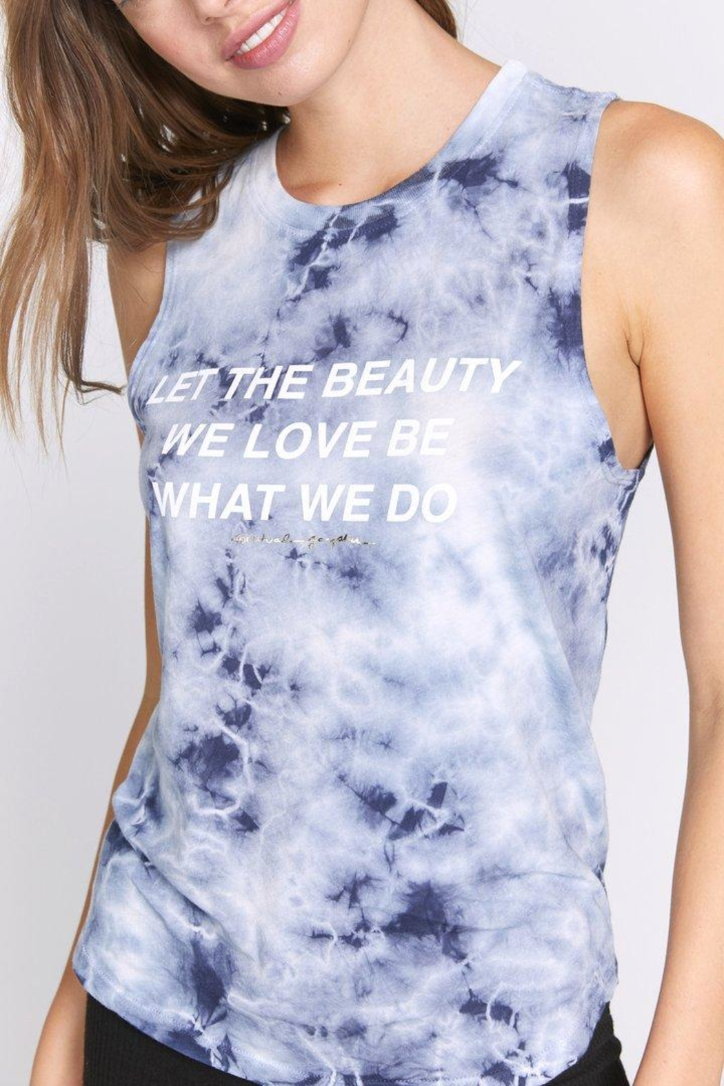 SPIRITUAL GANGSTER Beauty Muscle Tank - Front Cropped Image