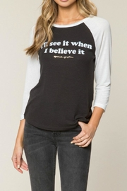 SPIRITUAL GANGSTER Believe Baseball Tee - Front cropped