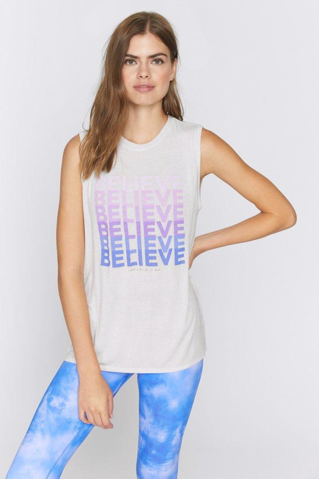 SPIRITUAL GANGSTER Believe Cahkra Tank - Front Cropped Image