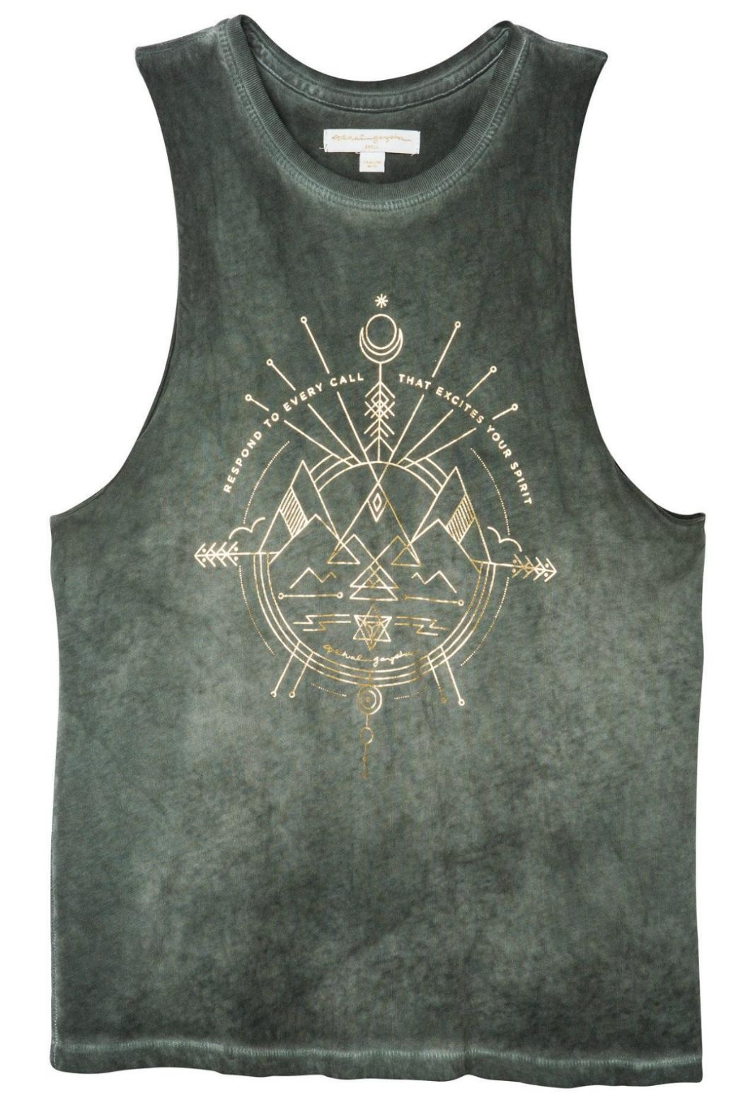 SPIRITUAL GANGSTER Excite Rocker Tank Top - Back Cropped Image
