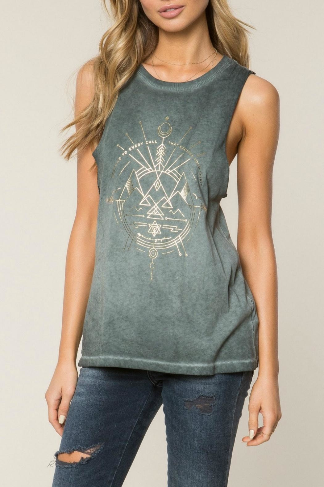 SPIRITUAL GANGSTER Excite Rocker Tank Top - Front Full Image