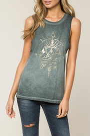 SPIRITUAL GANGSTER Excite Rocker Tank Top - Front cropped