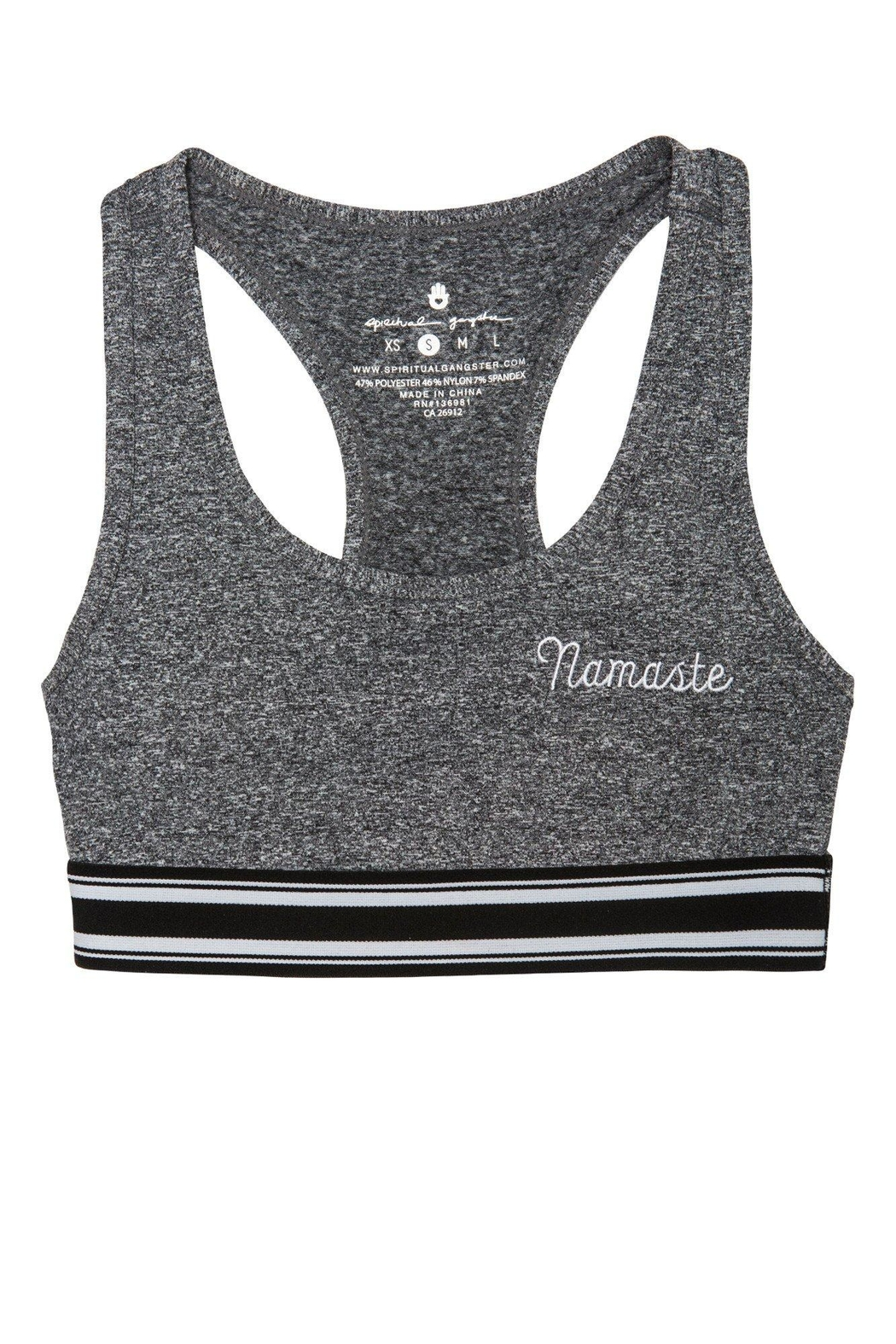 SPIRITUAL GANGSTER Namaste Athletic Bra - Main Image