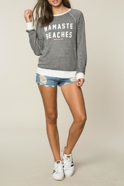 SPIRITUAL GANGSTER Namaste Beaches Sweatshirt - Product Mini Image