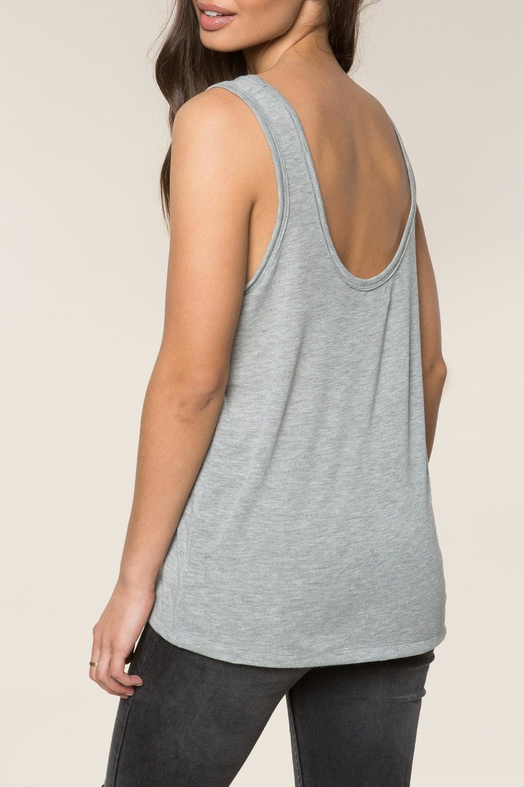 SPIRITUAL GANGSTER Namaste Scoop Tank Top - Side Cropped Image