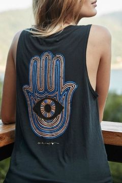 SPIRITUAL GANGSTER Neon Hamsa Tank - Alternate List Image