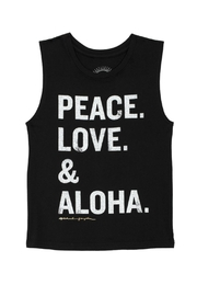 SPIRITUAL GANGSTER Peace Love Aloha Tee - Front cropped