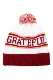 SPIRITUAL GANGSTER Pompom Grateful Beanie - Front cropped