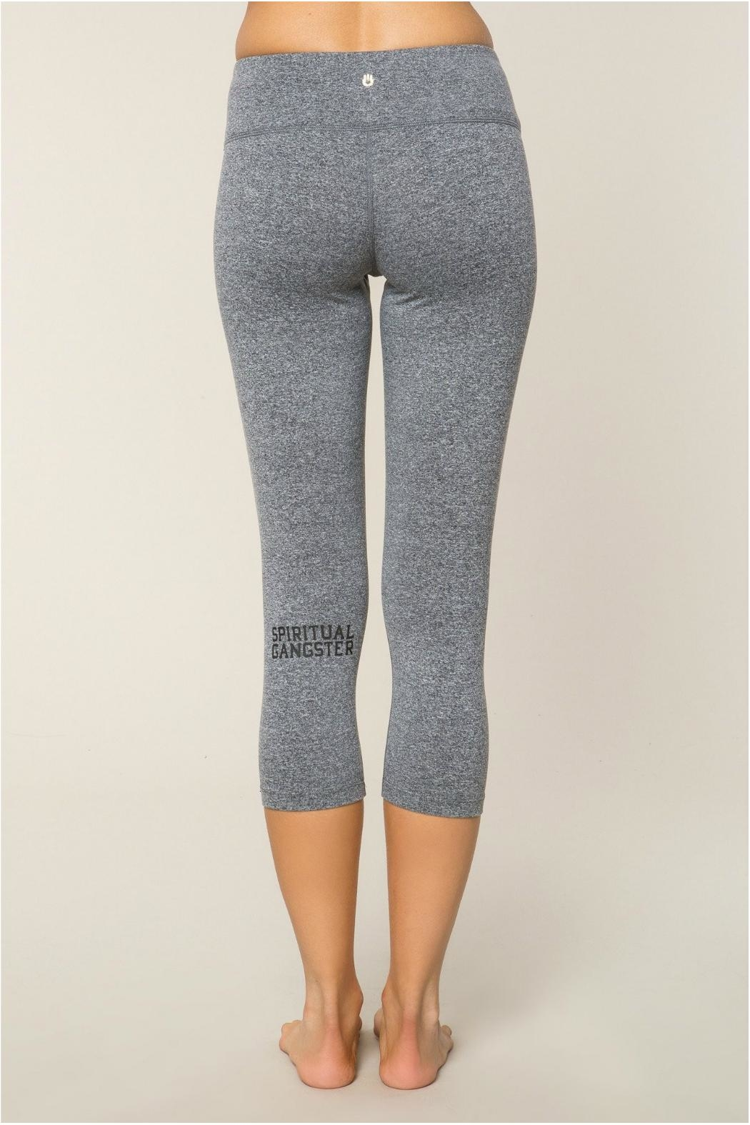 SPIRITUAL GANGSTER Power Crop Leggings - Front Cropped Image