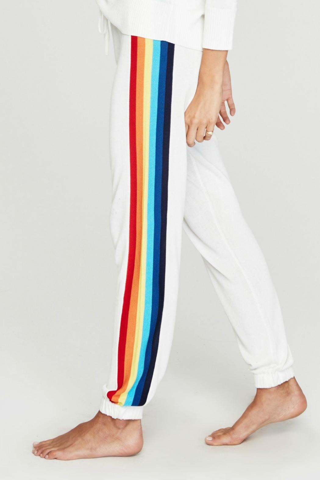 SPIRITUAL GANGSTER Rainbow Knit Sweatpant - Front Full Image