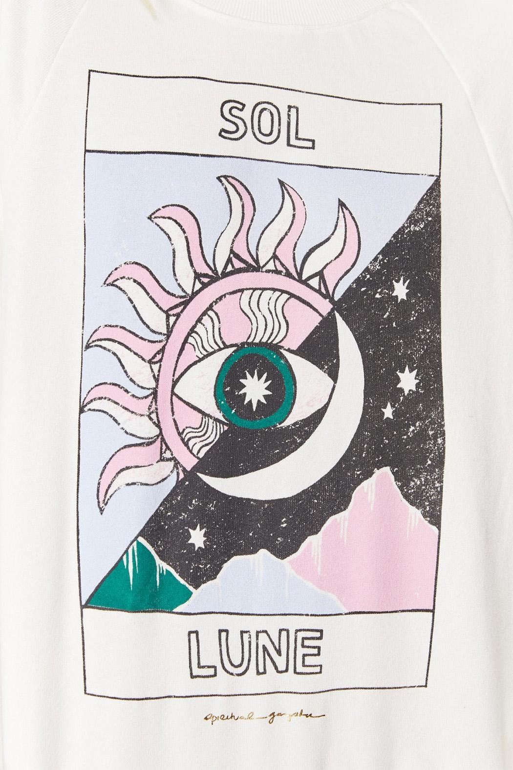 SPIRITUAL GANGSTER Sol Lune Pullover - Side Cropped Image