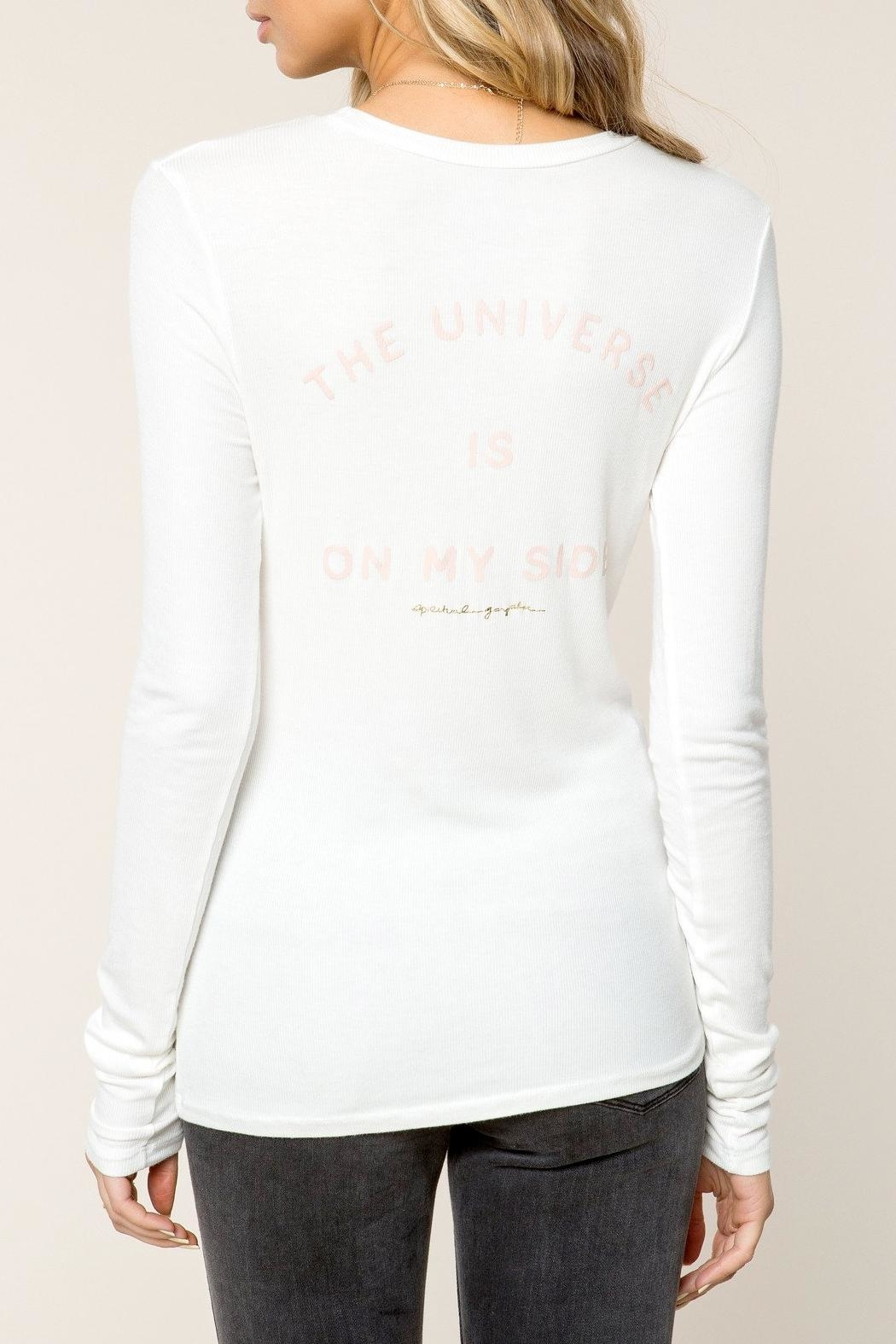 SPIRITUAL GANGSTER Universe Ribbed Tee - Front Full Image