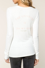 SPIRITUAL GANGSTER Universe Ribbed Tee - Front full body