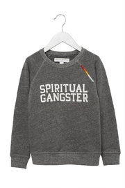 SPIRITUAL GANGSTER Varsity Rainbow Sweater - Product Mini Image