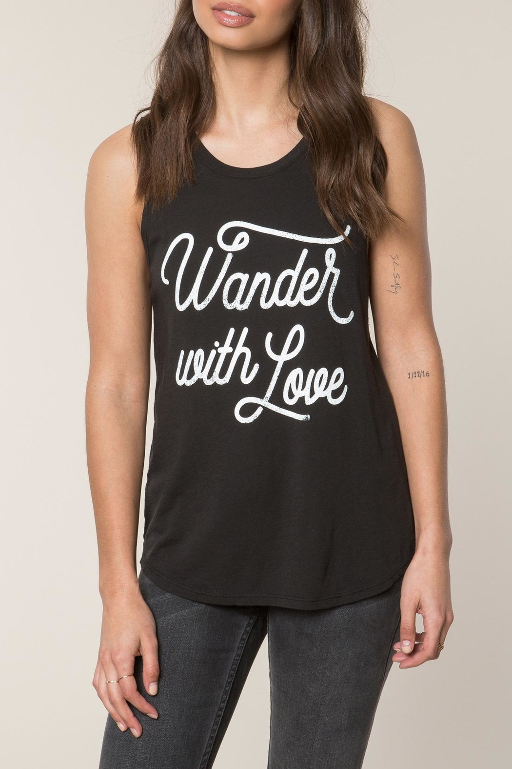 SPIRITUAL GANGSTER Wander Love Tank Top - Front Cropped Image